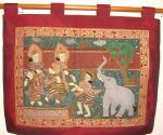 An elephant a gift to the royal family red-maroon kalaga