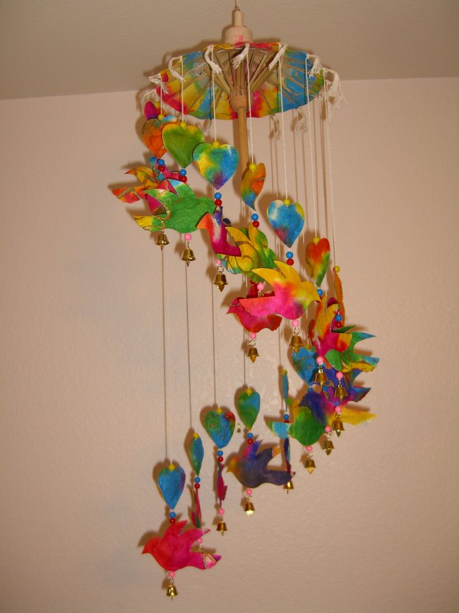 Wc 120 Saa Paper Umbrella Mobile Or Wind Chimes Birds And